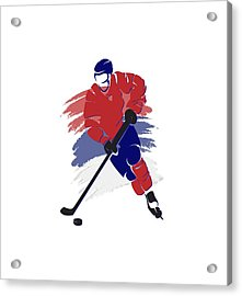 Montreal Canadiens Player Shirt Acrylic Print by Joe Hamilton