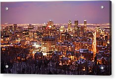 Montreal City Lights Acrylic Print by Pierre Leclerc Photography