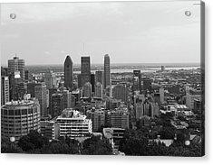 Montreal Cityscape Bw Acrylic Print