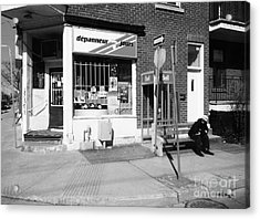 Montreal Depanneur Acrylic Print by Reb Frost