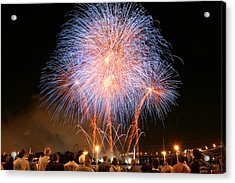 Montreal Fireworks Celebration  Acrylic Print by Pierre Leclerc Photography