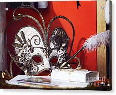 Montreal Mask Acrylic Print by John Rizzuto