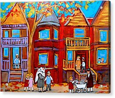 Montreal Memories Of Zaida And The Family Acrylic Print