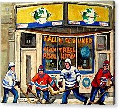 Montreal Poolroom Hockey Fans Acrylic Print