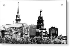Montreal Port View Acrylic Print by John Rizzuto