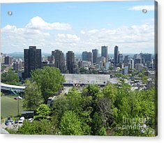 Montreal View From Mcgill Residences Acrylic Print