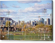 Montreal View From Verdun Acrylic Print by Reb Frost