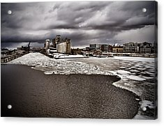 Montreal's Old Port Acrylic Print by Michel Filion
