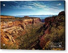Monument Canyon And Saddlehorn Acrylic Print