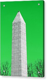 Monument Green Acrylic Print by Tina B Hamilton