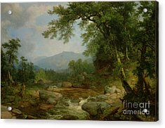 Monument Mountain - Berkshires Acrylic Print by Asher Brown Durand