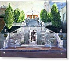 Monument Terrace Acrylic Print by J Luis Lozano