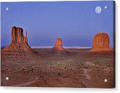 Monument Valley At Dusk Acrylic Print by Joel P Black