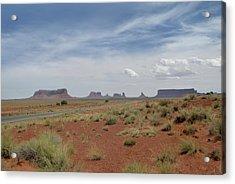Monument Valley Horizon Acrylic Print by Gordon Beck