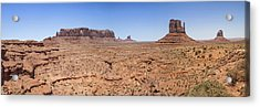 Monument Valley Panoramic Valley View Acrylic Print by Melanie Viola