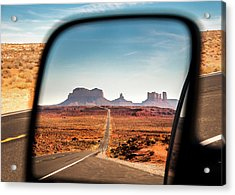 Monument Valley Rearview Mirror Acrylic Print