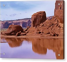 Monument Valley Reflection Acrylic Print