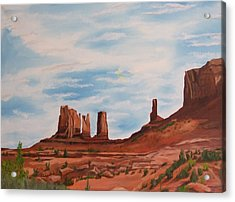 Monument Valley Acrylic Print by Robert Silvera