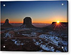 Monument Valley Sunrise Acrylic Print by Edwin Verin