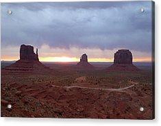 Monument Valley Sunrise Acrylic Print by Gordon Beck