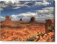 Acrylic Print featuring the photograph Monument Valley View by Donna Kennedy