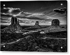 Monument Valley Views Bw Acrylic Print