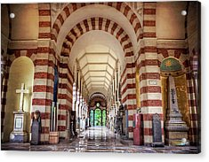 Acrylic Print featuring the photograph Monumental Cemetery In Milan Italy  by Carol Japp