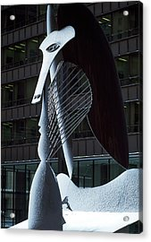 Monumental Sculpture In Front Acrylic Print by Panoramic Images