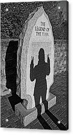Monumental Shadows Peace Out Acrylic Print