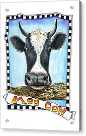Acrylic Print featuring the painting Moo Cow by Retta Stephenson