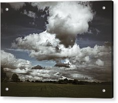 Acrylic Print featuring the photograph Moodiness In The Clouds by Karen Stahlros