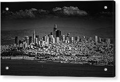 Moody Black And White Photo Of San Francisco California Acrylic Print by Steven Heap