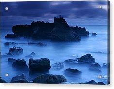 Moody Blue Acrylic Print by Eric Foltz