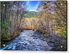 Acrylic Print featuring the photograph Moody Blue River by Spencer McDonald