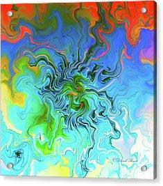 Moody Blues Acrylic Print by Deborah Benoit