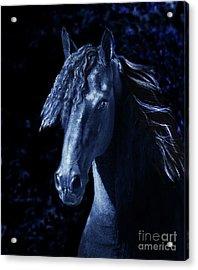 Moody Blues Acrylic Print by Melinda Hughes-Berland