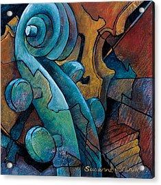 Moody Blues Acrylic Print by Susanne Clark
