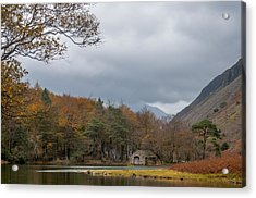 Moody Clouds Over A Boathouse On Wast Water In The Lake District Acrylic Print