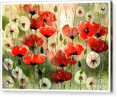 Moody Poppies In The Afternoon Acrylic Print