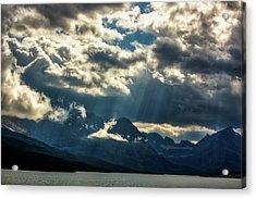 Moody Sunrays Over Glacier National Park Acrylic Print