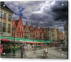 Moody Weekend In Brugge Acrylic Print by Connie Handscomb