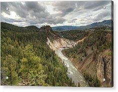 Moody Yellowstone Acrylic Print