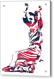 Mookie Betts Boston Red Sox Pixel Art 1 Acrylic Print