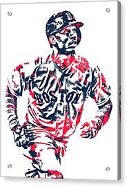 Mookie Betts Boston Red Sox Pixel Art 2 Acrylic Print