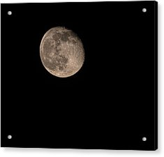 Acrylic Print featuring the photograph Moon 4-13-2017 by Thomas Young