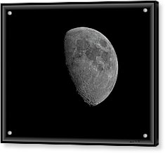 Acrylic Print featuring the photograph Moon 67 Percent Fr23 by Mark Myhaver