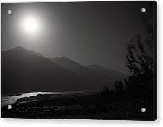 Moon Above Pyandzh Valley Acrylic Print