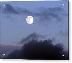 Moon And Clouds Acrylic Print by Richard Singleton