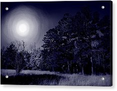 Moon And Dreams Acrylic Print by Nina Fosdick
