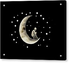 Moon And Stars T Shirt Design Acrylic Print